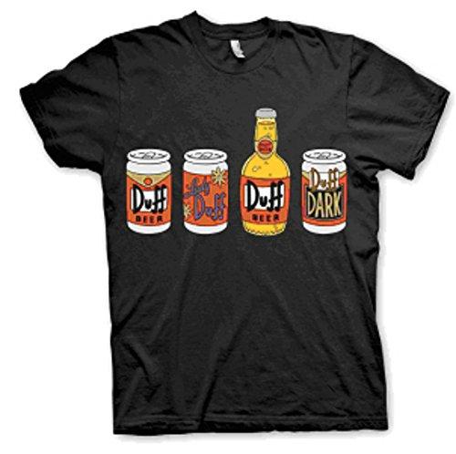 The Simpsons Duff Bottles T-shirt Medium