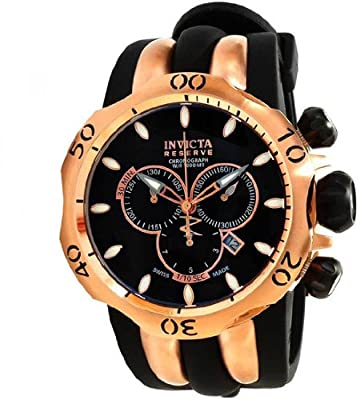 Invicta Men's 10830 Venom Analog Display Swiss Quartz Black Watch