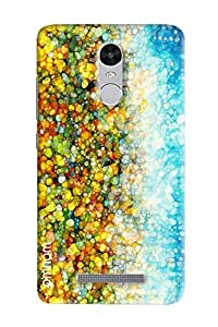 Omnam Round Leaves With Blue Sky Pattern Printed Designer Back Cover Case For Xiaomi Redmi Note 3