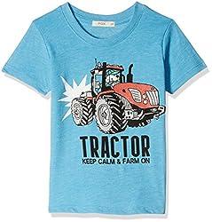 Fox Baby Boys' T-Shirt  (Turquoise Melange_18-24 months_327560)