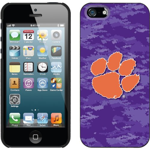 Great Sale Clemson - Emblem on Camo design on a Black iPhone 5s / 5 Thinshield Snap-On Case by Coveroo