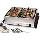 Maxi-Matic EWM-6122 Elite Gourmet Double Buffet Server and Warmer