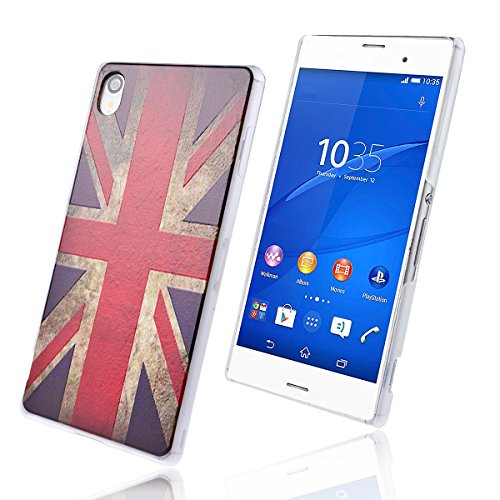 WeLoveCase für Sony Xperia Z3 PC Hard Case Backcover Schutzhülle Holster UK Flagge Pattern Hand Hülle Handy Case Dünne Tasche Cover für Sony Xperia Z3 (5.2 Zoll)