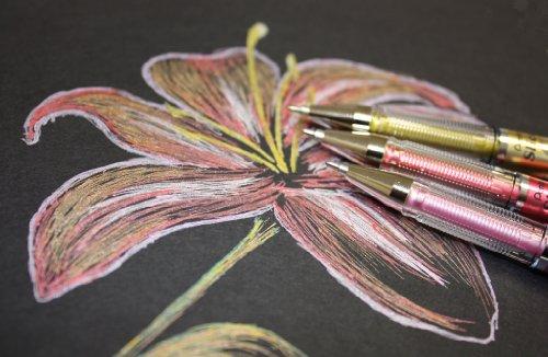 Pentel BG208 Slicci - Bolígrafo con tinta de gel (punta de aguja, 0,4 mm), color dorado