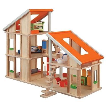 PlanToys - 7141 - Jouet en bois - Maison Chalet Meublée