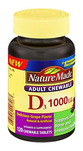 Nature Made Nat Made Vitamin D/D3 1000Iu 120 Chw, Pack of 6 (Nature Made Vitamin D3 1000iu compare prices)