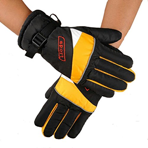 Binmer(TM)12V Charging Gloves Grips Electric Car Electric Heating Glove Thermal Insulation (Yellow) (Battery Powered Glove Liners compare prices)