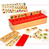 Toys of Wood Oxford Wooden Sorting Box With Sorting Lid 99 Pieces 8 Categories Total 80 Objects