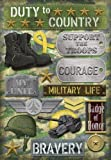 Karen Foster Design Acid and Lignin Free Scrapbooking Sticker Sheet, Military Life