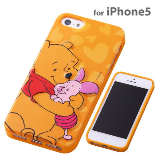 Special Sale Disney Character 3D Relief iPhone 5 Case (Winnie the Pooh & Piglet)