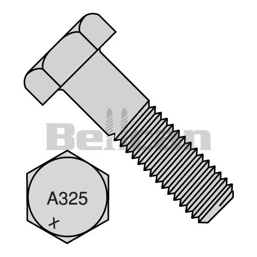 7//16 x 1-3//4 Plow Bolts Grade 5 Coarse Thread Clip Head Quantity: 325 7//16-14 x 1-3//4 Plain Steel