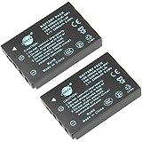 DSTE® 2x DB-L50 Replacement Li-ion Battery for Sanyo DMX-WH1 VPC-HD2000 DMX-HD1010 DMX-FH11 VPC-WH1 DMX-HD2000 VPC-HD1010 VPC-HD1000 Camera as Kodak KLIC-5001