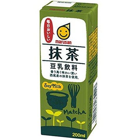 マルサン 豆乳飲料 抹茶 200ml×24本×2ケース 合計48本