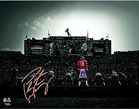 "Peyton Manning Denver Broncos Autographed 11"" x 14"" On Field Spotlight Photograph - Fanatics Authentic Certified"