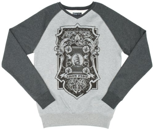 Iron Fist Royal Bearings Raglan Crew Mens Jumper Black X-Large
