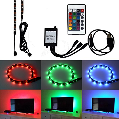 honesteast-tv-backlight-for-hdtv-rgb-led-light-strip-2197in-72w-5v-24key-remote-control-tv-accent-li