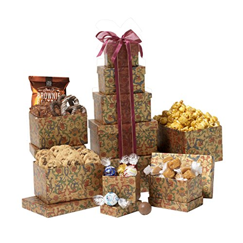 Broadway Basketeers Thinking of You Gift Tower (Food Basket Gifts compare prices)