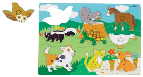 Small World Toys Ryan's Room  Wooden Puzzles - Animals