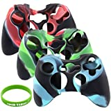 Super Soft Silicone Cover Case Skin for Xbox 360 Controller Camo (3 Colors Package)