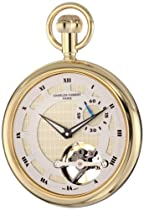 Charles-Hubert, Paris 3901-G Classic Collection Gold-Plated Open Face Mechanical Pocket Watch