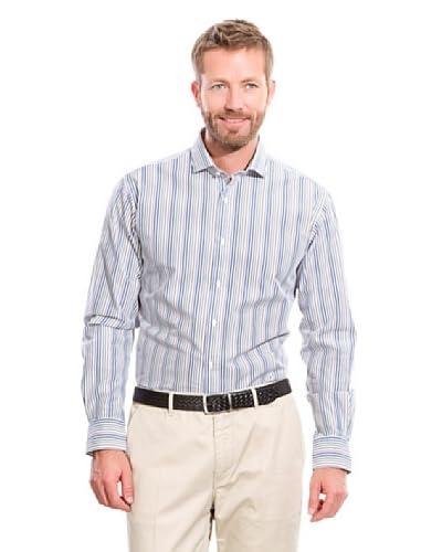 Cortefiel Camisa Rayas Azul