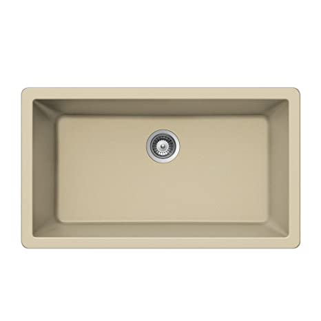 Houzer VIRTUS N-100XLU COLORADO Virtus Series Topmount Granite Single Bowl Kitchen Sink, Colorado