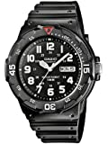 Casio CASIO Collection Men MRW-200H-1BVEF - Reloj analógico de cuarzo para hombre, correa de resina color negro (agujas luminiscentes)
