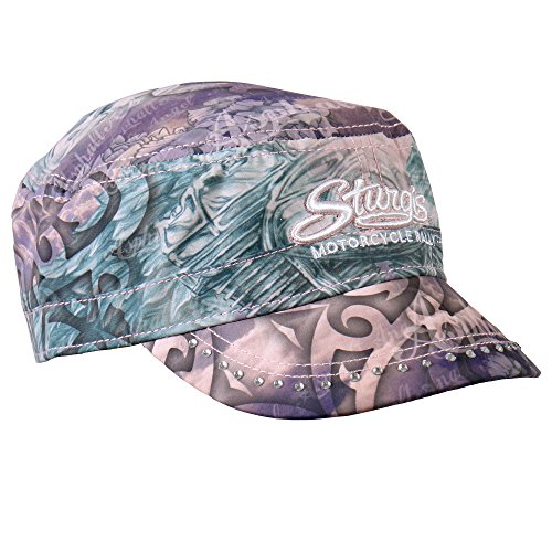 Hot Leathers Sturgis Women's Angel Wings Cadet Cap (Allover, Adjust)