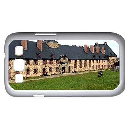 Fortress Of Louisbourg - Nova Scotia (Monuments Series) Watercolor Style - Case Cover For Samsung Galaxy S3 I9300 (White)