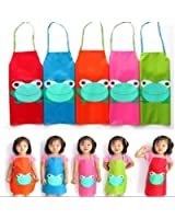 Tablier Cuisine Enfant Peinture Maternelle Dessin Grenouille Blouse rouge