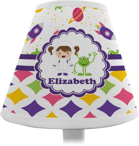 Girl's Space & Geometric Print Chandelier Lamp Shade (Personalized)