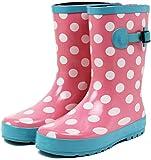 (セレブル) Celeble レインブーツ キッズ 女の子 男の子 ジュニア 長靴 雪 子供靴 ピンクドット 21.0