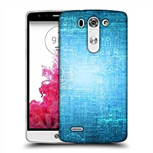 Snoogg Blue Graphic Designer Protective Phone Back Case Cover For LG G3 BEAT