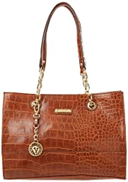 Anne Klein Coast Is Clear Small Shoulder Bag,Saddle,One Size