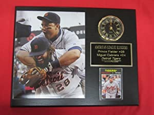 Miguel Cabrera Prince Fielder Detroit Tigers Collectors Clock Plaque w 8x10 Photo and... by J & C Baseball Clubhouse