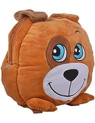 Soft Buddies Plush Soft 8 Lts Black And White Dog Character Bag