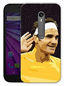 "Humor Gang Tennis God Poster Art Printed Designer Mobile Back Cover For ""Motorola Moto G3 - Moto G Turbo Edition"" (3D, Matte, Premium Quality Snap On Case)"