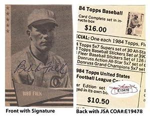 Autographed Bibb Falk Photo - 2x3 Newspaper Chicago White Sox JSA COA Univ of Texas -... by Sports Memorabilia
