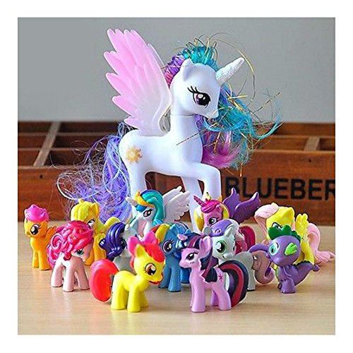 12Pcs/Set 5CM Lot of My Little Pony funny Cake Toppers Doll Action Figures Toy C