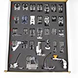 Generic Pro 32pcs Domestic Sewing Machine Foot Feet Set For Brother Singer Janome Elina