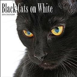 2016 Black Cats on White Calendar