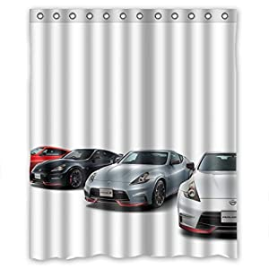 Custom Design Rust Proof Car Shower Curtain 60 W X 72 H Polyester Best For