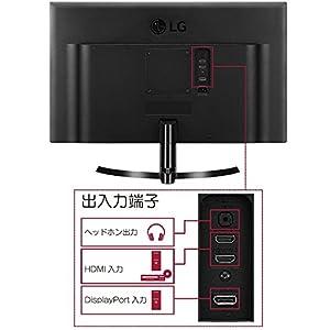 LG 24UD58-B ディスプレイ・モニター 4K 23.8インチ/IPS 非光沢/ブラック/HDCP2.2対応/HDMI2.0×2