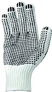 Wells Lamont 520L Polyester Work Glove with Grip Dots, Large