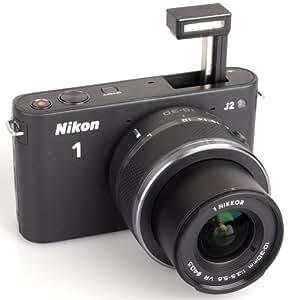 Nikon 1 J2 Kit compact hybride 10,1 Mpix + Objectif 1 Nikkor VR 10-30 mm f/3.5-5.6 Noir Mat