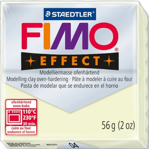 original fimo effect modelliermasse nachtleuchtend 04 leuchtfarbe 56 g. Black Bedroom Furniture Sets. Home Design Ideas