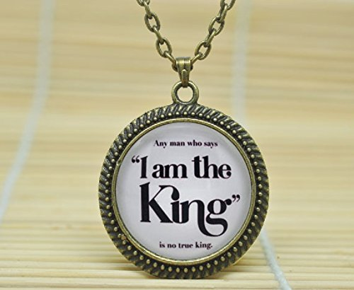 SunShine Day Fashion Necklace Game Of Thrones 'I Am The King' Joffrey And Tywin Lannister Necklace Glass Dome Cabochon Necklace