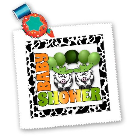 Qs_173034_5 Doreen Erhardt Baby Designs - Twins Green Gender Neutral Baby Shower Western Theme - Quilt Squares - 14X14 Inch Quilt Square front-238960