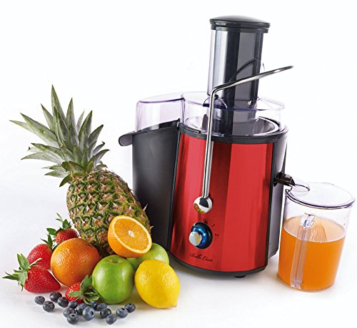 Bella Casa Whole Fruit Juicer Vegetable Citrus Juice Extractor Chrome
