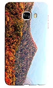Omnam Valley Of Flowers On Mountain Printed Designer Back Cover Case For Samsung Galaxy C7